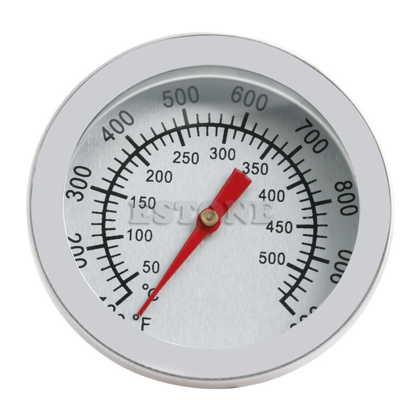 Stainless Steel Barbecue BBQ Smoker Grill 50~500 Celsius Thermometer Temperature Gauge
