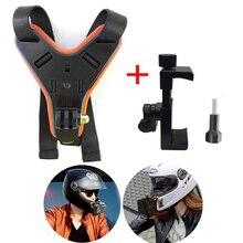 Полнолицевое крепление для мотоциклетного шлема, крепление для подбородка с держателем для телефона, для iPhone, Huawei, xiaomi, Gopro7, 6, 5, SJCAM, SJ8, SJ4000, Xiaoyi, 4k