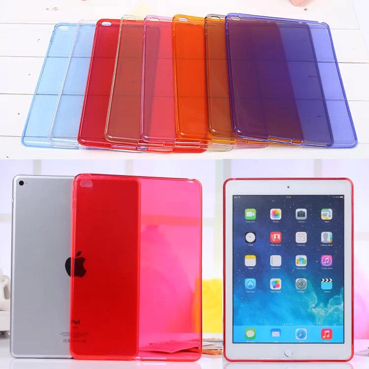 For Apple iPad Air 2 Soft clear TPU Rubber silicon Back Protective Case Cover For iPad Air2 for ipad 6 Tablet bags M2C42D tpu tablet back cover case for ipad air 2