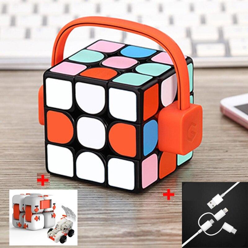 Xiao mi mi jia Giiker Smart mi Cube Super professionnel Cube magique jouet avec Bluetooth téléphone APP télécommande pour enfants adulte