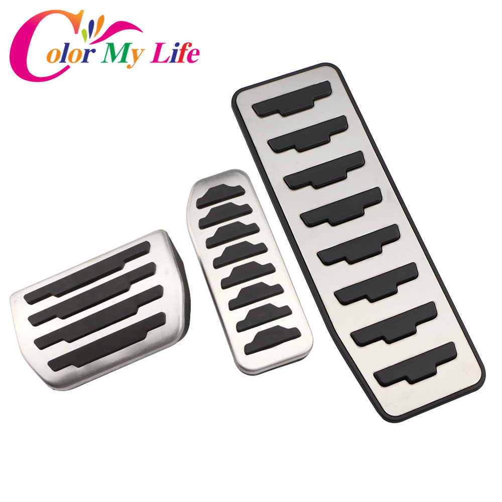 Color My Life Car Gas Pedals Brake Pedal for Land Rover Range Rover Evoque 2012+ Foot Rest Pedal Pad Cover Car Styling