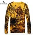 Hombres otoño nueva delgada SHAN BAO marca calidad suéter jacquard suéter cultiva su moralidad de cuello blanco patrón de tigre amarillo