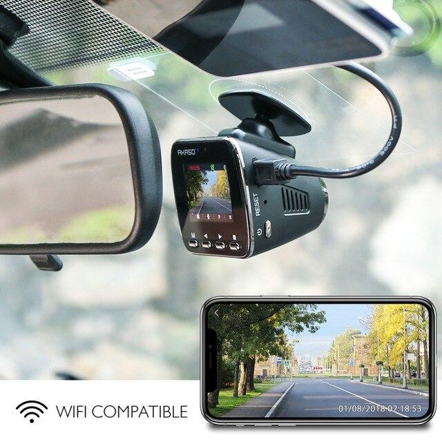 AKASO V1 HD WiFi Car Dash Camera DVR Car Dash Cam with GPS APP 16GB Night Vision Loop Recording G-Sensor Parking Monitor 5