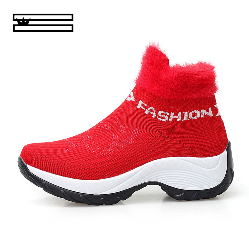 Detail Feedback Questions about SHUANGGUN 2018 Winter New Thick Warm Snow  Boot Women Casual Lace Up Short Mid Heel Plus Velvet Ladies Shoes Women S  Sneakers ... e003436ccc90