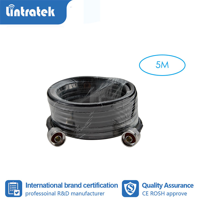 Lintratek 5 Meter Coaxial Cable N Male To N Male For Mobile Phone Signal Booster Repeater Amplifier #3