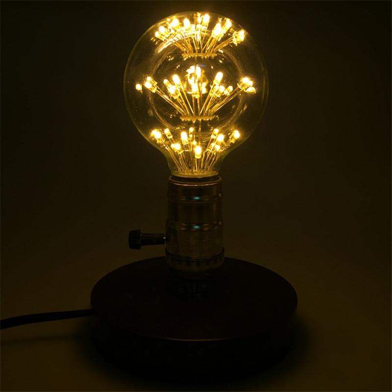 10 шт. G80 Dragon Ball светодиодный светильник в стиле ретро со звездами 3 Вт E27 AC85 265V энергосберегающий Теплый Белый античный светодиодный светильник из стекла для ресторана