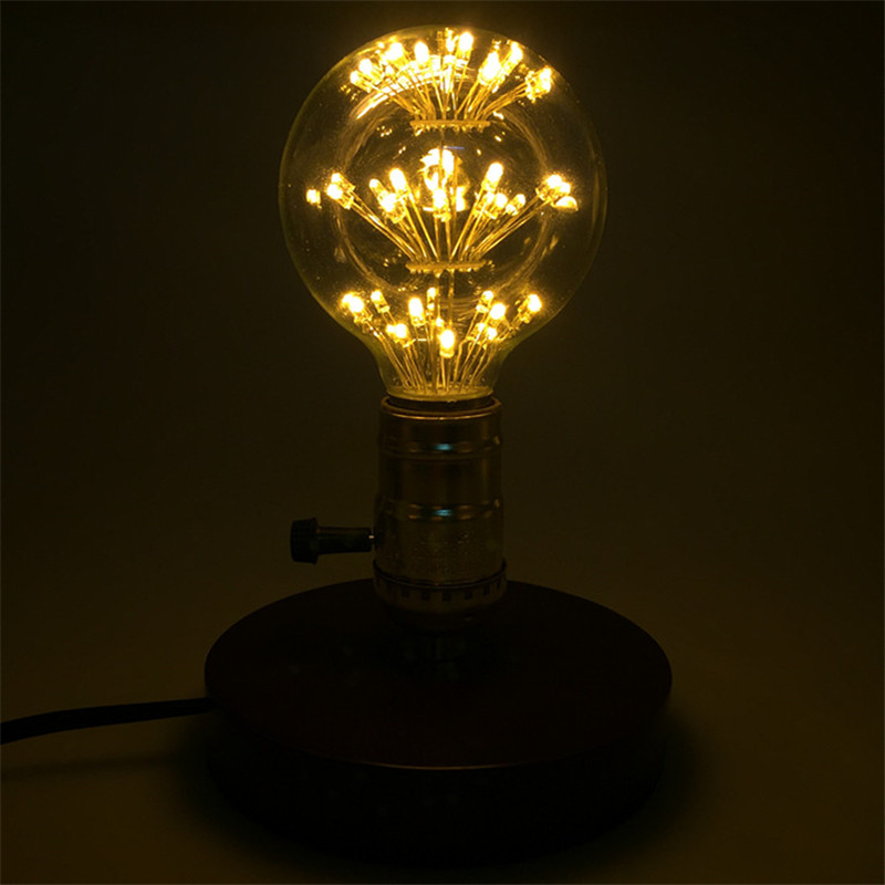 10PCS G80 Dragon Ball LED Retro Stars Bulb 3W E27 AC85-265V Energy-saving Warm White Antique LED Glass Light for Restaurant Bar 680lm mr16 7w cob warm white led spot bulb energy saving light 85 265v