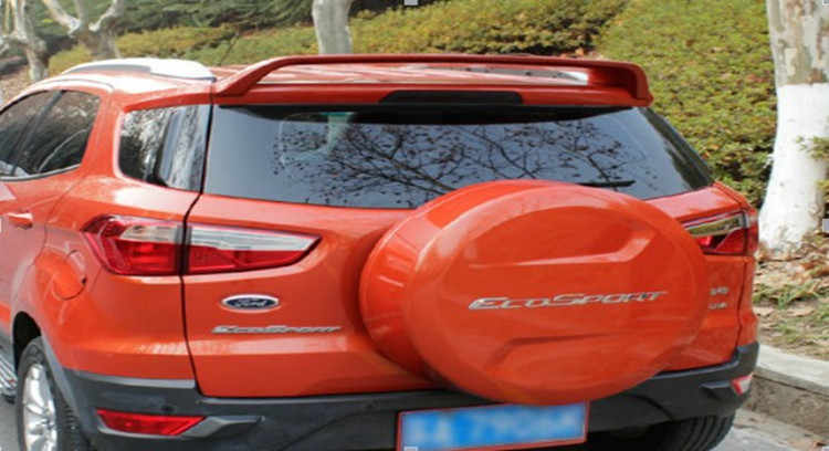 Montford تصفيف السيارة لفورد ecosport 2013 2014 2015 2016 abs البلاستيك غير مصبوغ التمهيدي اللون تعديل جناح خلفي الجذع المفسد