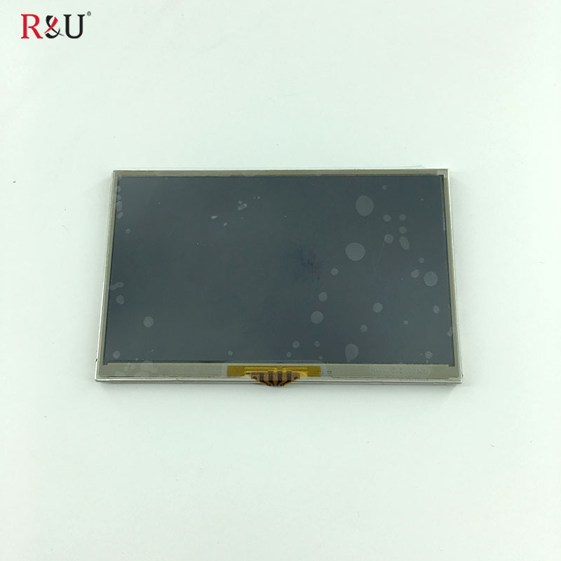R&U 5pcs test good 5 inch LMS500HF05 REV0.1 TFT lcd display panel +touch screen digitizer for TomTom Free shipping ювелирное изделие 127140
