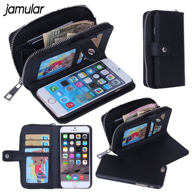 JAMULAR Lady Women Leather Handbag Wallet Phone Case for iPhone X 7 8 Plus  5S SE Flip Cover for iphone 6 6s 7 Plus Phone Bags eebb21c94e