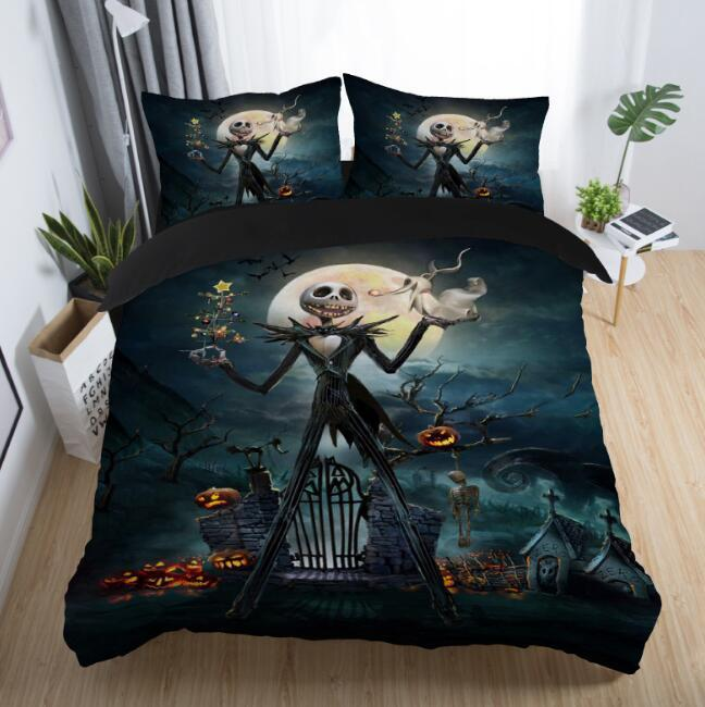 Home New The Nightmare Before Christmas Duvet Cover Set Twin Full Queen King Single Double Cartoon Bedding Set