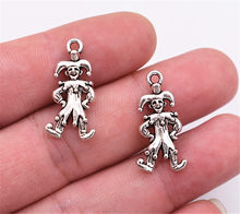 20 sztuk 24x12mm Antique Silver Plated Clown wisiorek DIY biżuteria akcesoria(China)