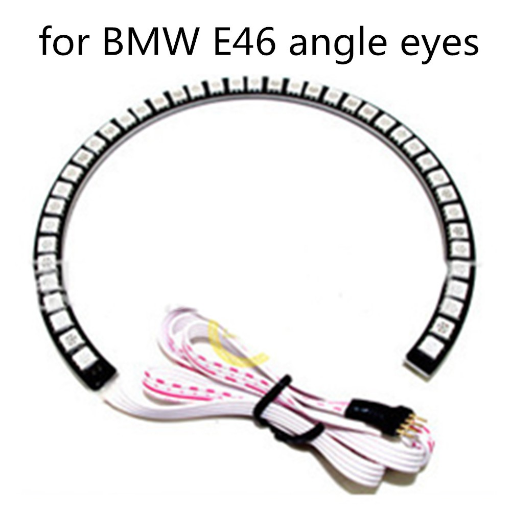for BMW E39 E46 E60 E92 E36 Excellent RGB 4X131mm Angel Eyes kit Multi Color  Ultrabright 16 Colors LED Halo Rings marker -in Car Headlight Bulbs(LED)  from ...