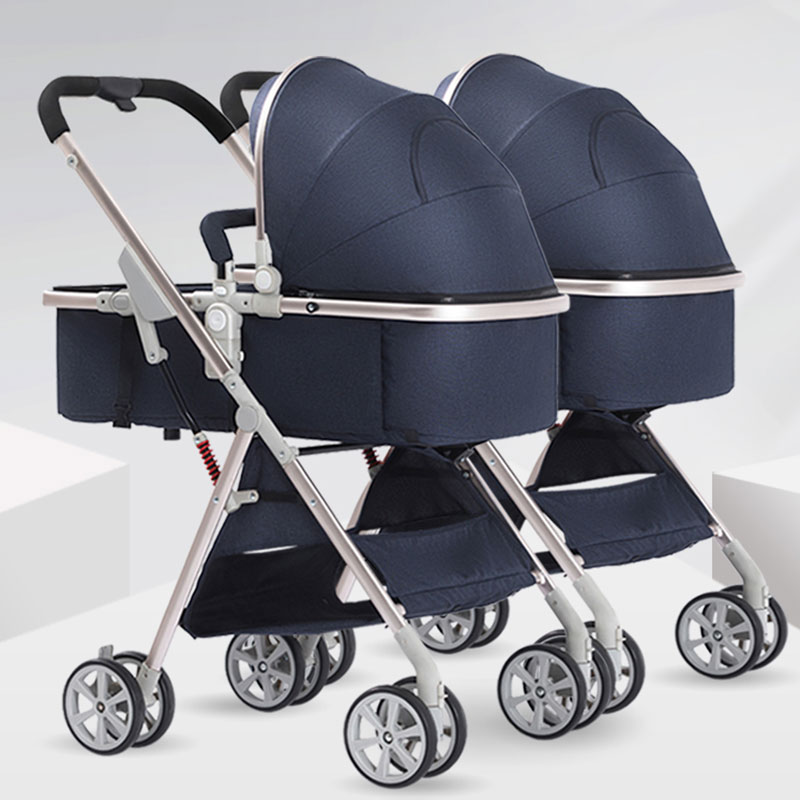 Twin baby strollers can be split and sit high landscape baby light folding dragon and phoenix second child double baby stroller Twin baby strollers can be split and sit high landscape baby light folding dragon and phoenix second child double baby stroller