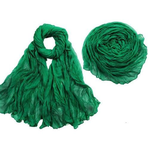 5x Fashion Solid Color Shawl   Scarf     Wrap   for Women (Green)
