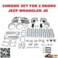Хромированной Отделкой Комплекты Набор для Jeep Wrangler JK 2 Двери 61 шт 2007 2008 2009 2010 12 13 14 Хром Охватывает Весь набор