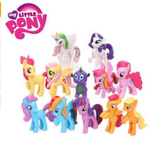 12 peças My Little Pony Brinquedos Rainbow Unicorn Cavalo Mini Ação PVC Figuras Twilight Sparkle Apple Jack Pico Do Dragão bonecas 2M01(China)