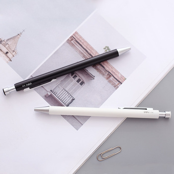 deli S16 Press Neutral Metal Pen 0.5mm smooth Writing gel ink Pen School Goods Black Gel Pen Gel 1 Pen