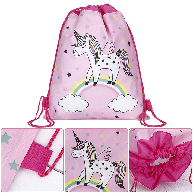 Unicorn Travel Storage Drawstring Bag