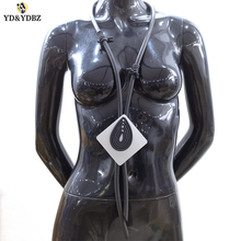 YD&YDBZ 2019 New Long Rubber Necklaces Germany Style Women Punk Choker Handmade Neck Jewellery Black Pendant Necklace Party Gift