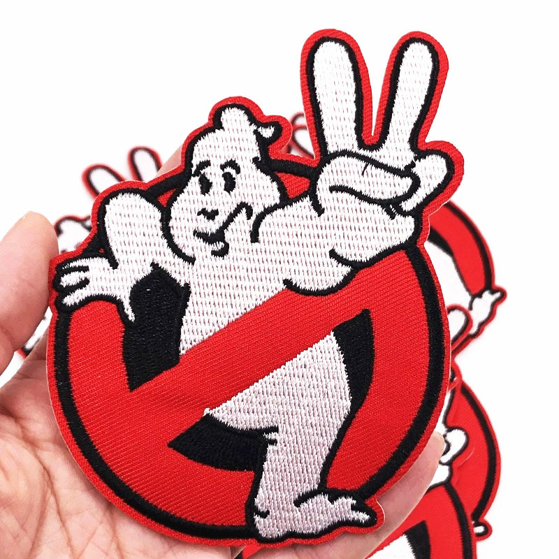 Lot of 3 The Real Ghostbusters Patches Slimer Cartoon Stay Puft Marshmallow Man