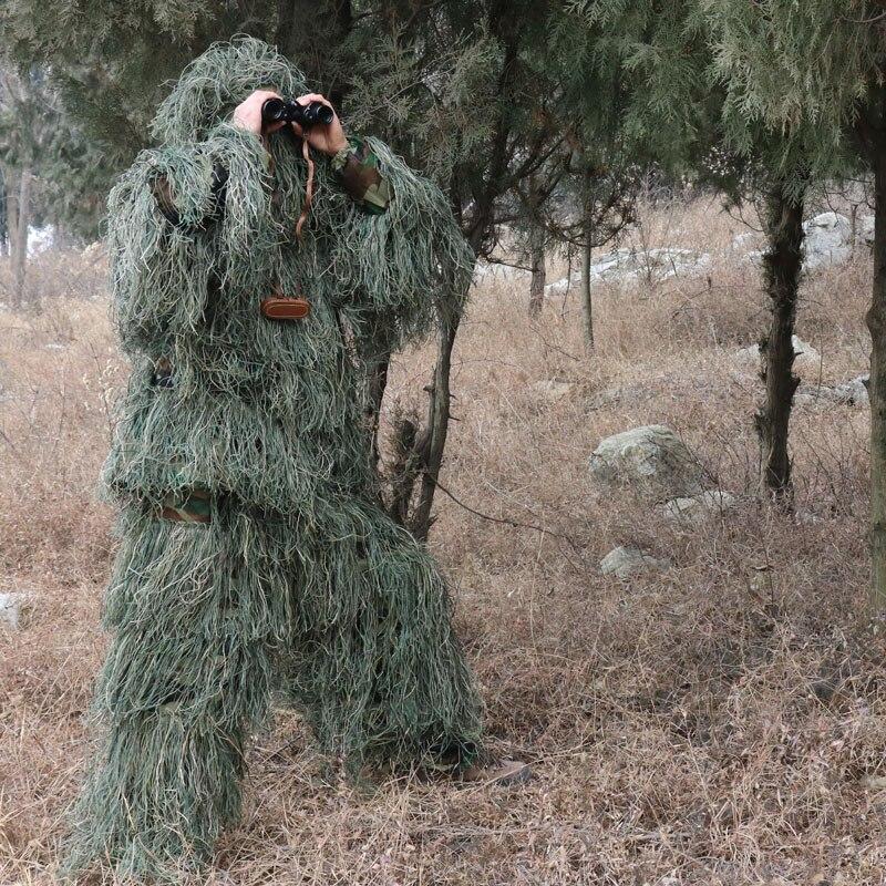 5 шт./компл. Камуфляжный маскировочный костюм дикарь-снайпер тактическая одежда Camo костюм для охоты для пейнтбола маскировочный костюм Для ...