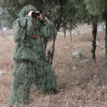5pcs / set Camouflage Ghillie YOWIE SNIPER Tactical Camo Suit for Hunting Paintball Ghillie Suit Тегін жеткізу