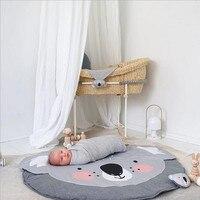 Kids Koala Play Mats Soft Cotton Game Rugs Climbing Carpet Infant Soft Sleeping Mat Rawling Blanket Koala Cartoon Room Cushion