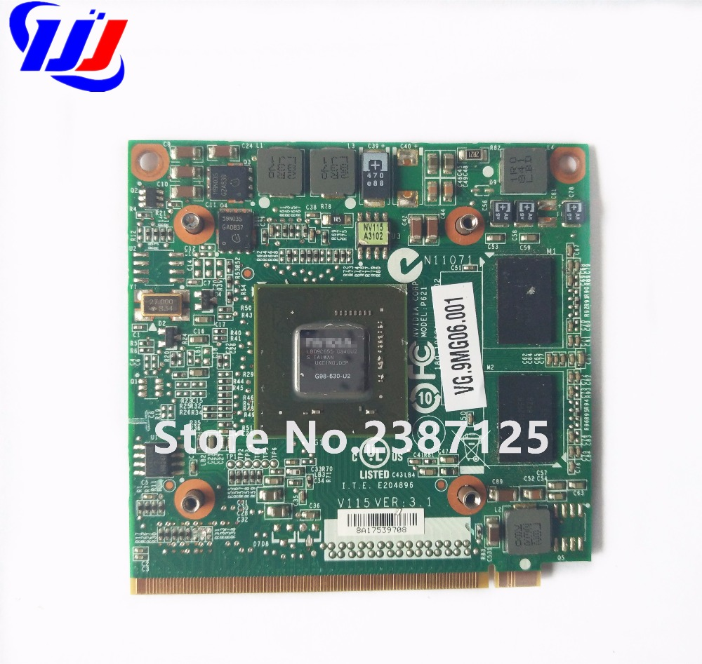 5520G 6930G 7720G 4630G 7730G Laptop n GeForce 9300M GS G98-630-U2 DDR2 256MB MXM II Kartë grafike Video për A c e r Aspire