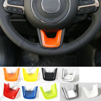 7 Colors Yellow Red Matt Orange White Newest Colorful ABS Steering Wheel U Shaped Decoration Cover