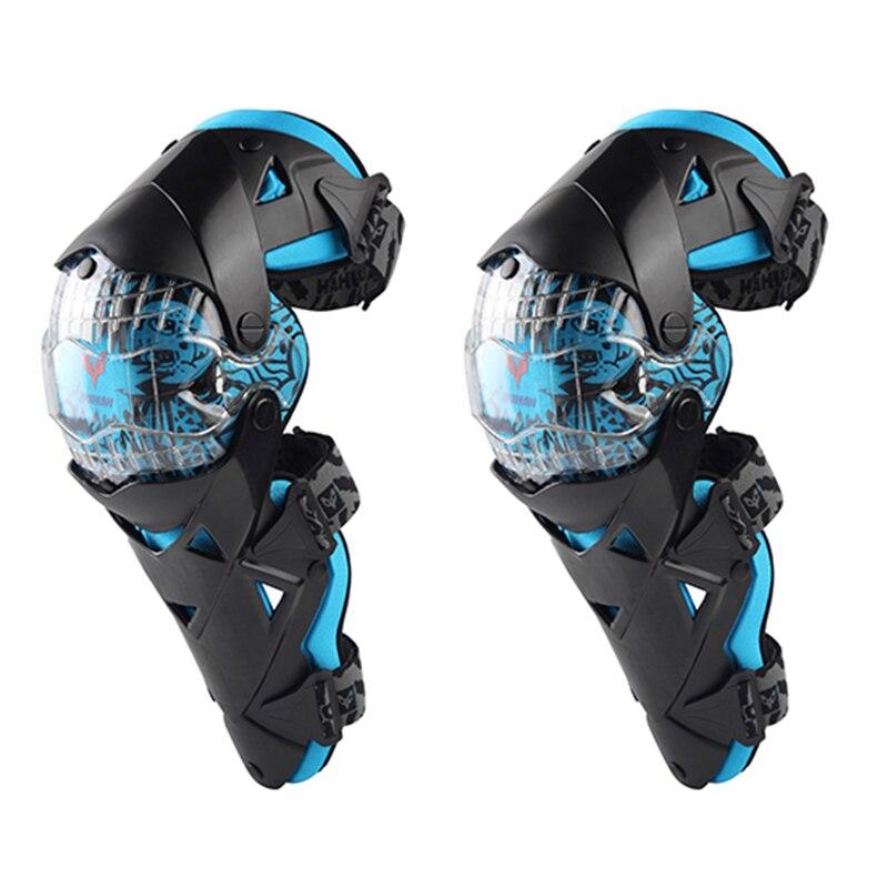 Духан модные мотоциклетные наколенники Мотокросс колено PC Brace высокого класса Защитное снаряжение Kneepad защитные