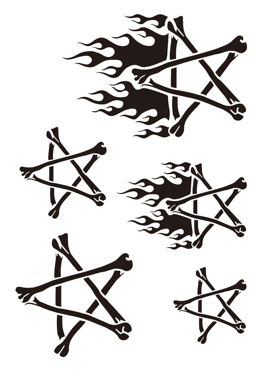 Privremeni Airbrush Tattoo Stencil Knjiga Airbrush šablone Template - Tetovaže i tjelesna umjetnost - Foto 6