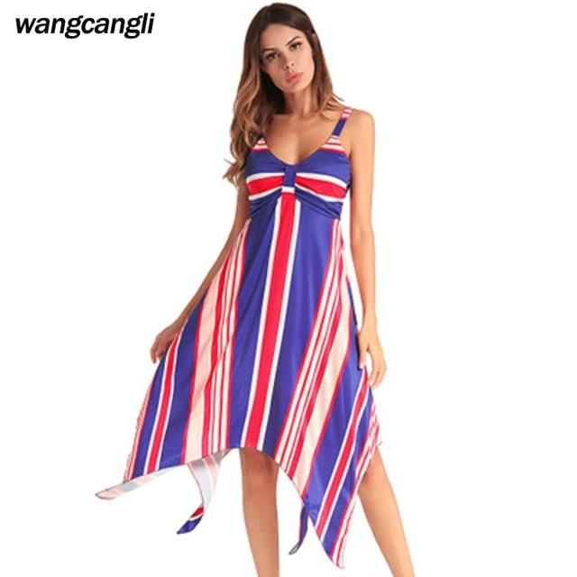 cda5f9b2bb Beach Party Dress kobiet Sexy Backless Lato dekolt Sukienki nowości 2018  Moda Elegancka Sukienka Midi plus