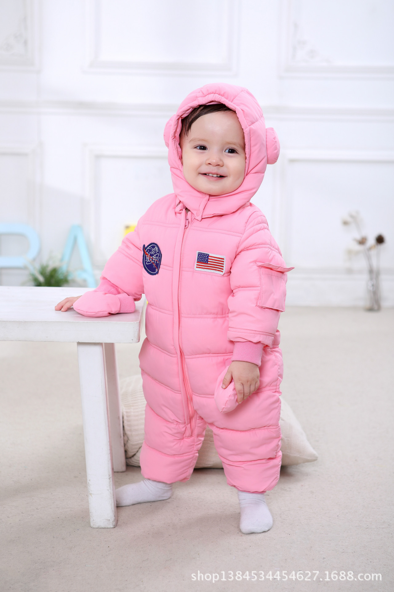 New Winter Baby Rompers Baby Girl Thermal Cotton Winter Snowsuit
