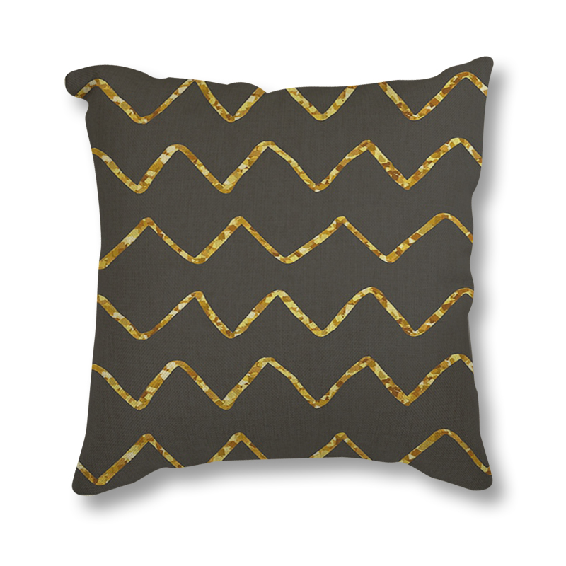 Nordic Style Cushion Cover Gray Gold Decorative Pillows Geometric