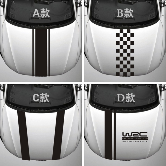 Stripe car vinyl sticker body decal covers engine hood cover side stickers for vw volkswagen golf