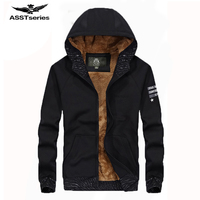 AFES JEEP Brand New Top Quality Hoodie Men Fashion Autumn Winter Fleece Thicken Keep Warm Coat