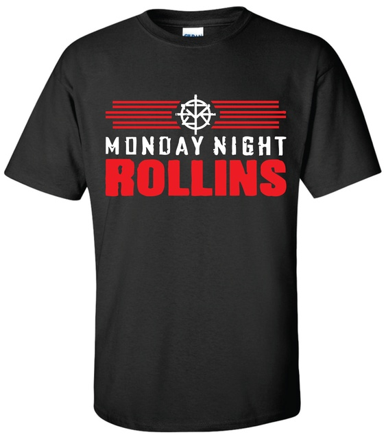 814f76a0 MONDAY NIGHT ROLLINS T-shirt Wrestling Seth T Shirt Summer Style Fashion  Men T Shirts Top Tee Different Colours High Quality