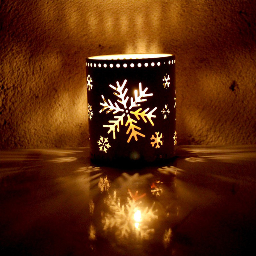 Home Decor 2018 New Fashion Xms Hollow Candle Holder Candlestick Creative Christmas Decor Party Decoration Christmas Candle Holder