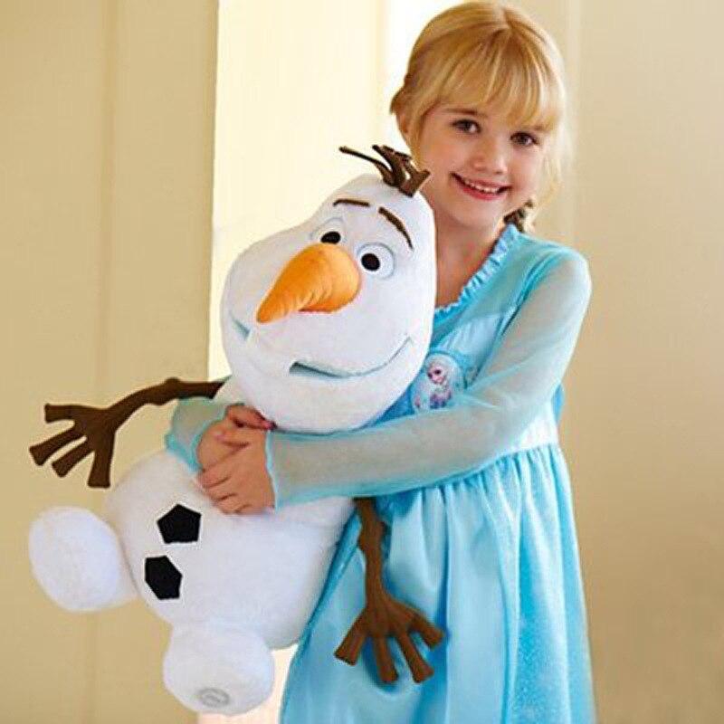 Disney brinquedos olaf brinquedos de pelúcia 22cm 30cm 50cm congelado bonito dos desenhos animados boneco de neve recheado boneca brinquedos juguetes crianças presentes