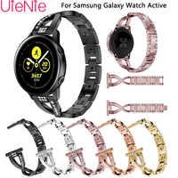 20 millimetri sostituire braccialetto per Samsung Gear S2 Le Donne Della Fascia con Strass Strap Per Samsung Galaxy Orologio Attivo wristband Accessori