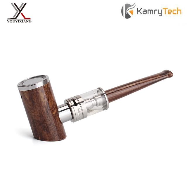 100% kamry originais e pipe-kit 1000 mah caneta design e k1000 cachimbo de madeira cachimbo de fumar mais 18650 eletrônico hookah cigarro