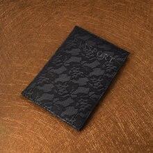 ccc7fb2f6b204 Lüks Zarif Pasaport Kapak Rusya Seyahat Dantel Pasaport Durumda Paspoort Kapak  Pasaporte Yumuşak Pu deri kılıf için Pasaport
