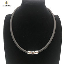 YD&YDBZ 2019 New Simple Necklace Women Statement Necklaces Jewelry Fashion Choker Wholesale Soft Rubber Chains Twenty One Pilots