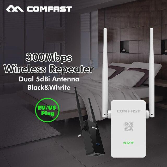 Беспроводной Wi-Fi Ретранслятор Wi-Fi Range Extender Усилитель Сигнала 300 Мбит Comfast 10dbi Антенна Wi-Fi Booster Repetidor 802.11 г/b/n