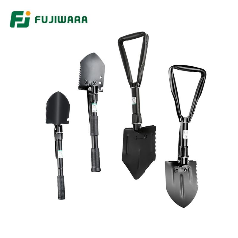 FUJIWARA Multifunctional Gardening Shovel Hoe Foldable Hiking Device Mini Military Survival Tools