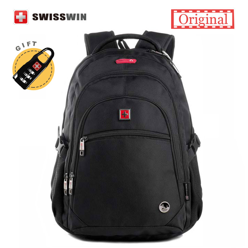 Swisswin Classic Man Daily Backpack Black Ergonomic School Backpack For Boys With Music Function Bolsa Mochila Masculina Backbag men backpack student school bag for teenager boys large capacity trip backpacks laptop backpack for 15 inches mochila masculina