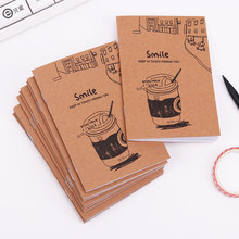 Retro Notebook Creative Mini Kraft Paper Blank Cup Notepad for Kids Student Gift Stationery(China)