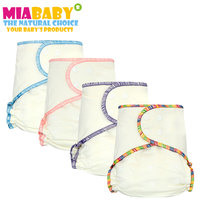 Miababy Onesize Bamboo Cotton Fitted Diaper For Heavy Wetter Baby AIO AI2 Diaper Fit Babies From