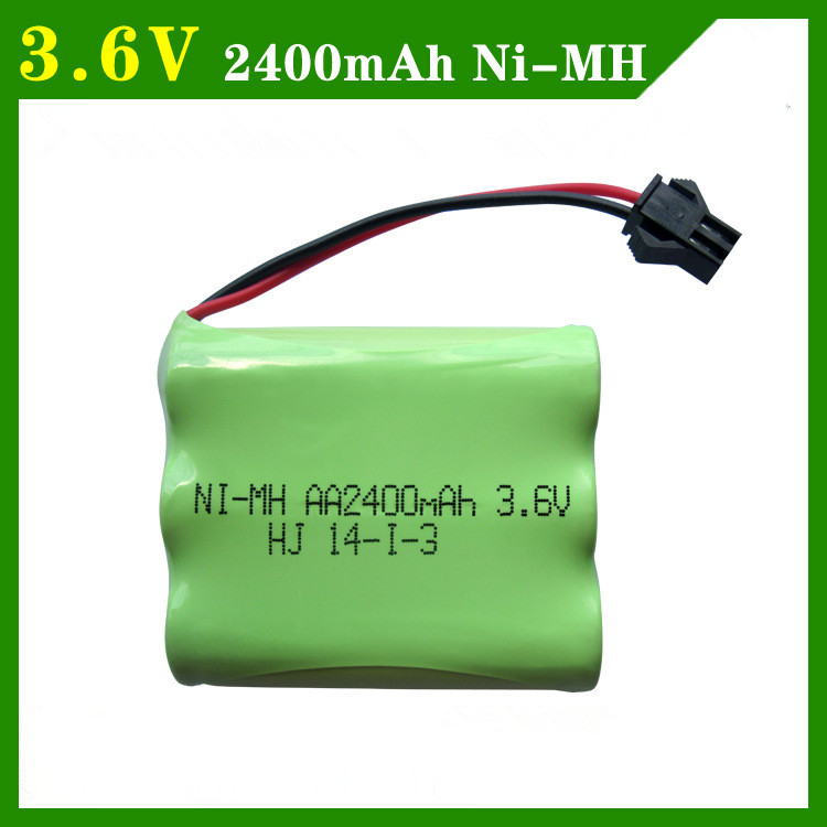 Cncool 3.6V 2400mah ni-mh battery pack AA rechargeable battery remote control electric toy lighting